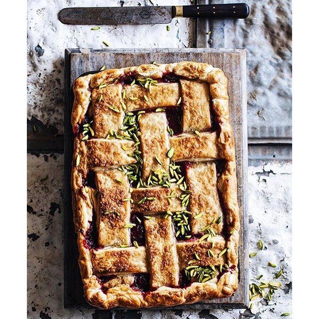 Rhubarb And Pistachio Frangipane Pie