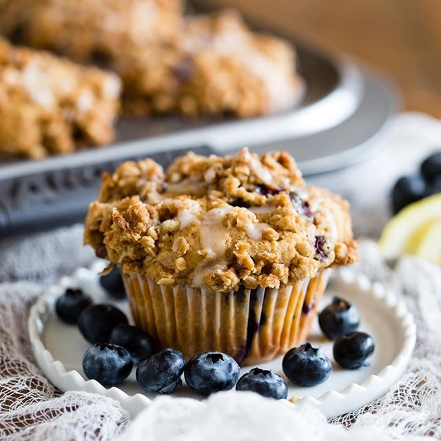 Some mornings are just made for muffins. Specifically blueberry lemon thyme muffins topped lemon…