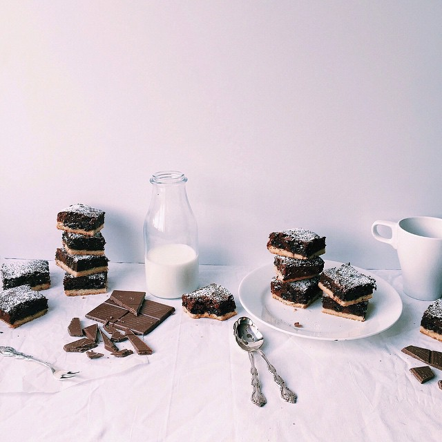 Double-layered Milk Chocolate Brownies