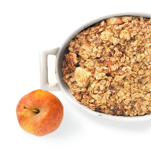 Apple Pear & Ginger Crumble