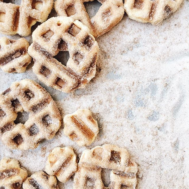 Mornings are for Churro Waffle Doughnuts tossed around in vanilla cinnamon sugar. It's the only way…