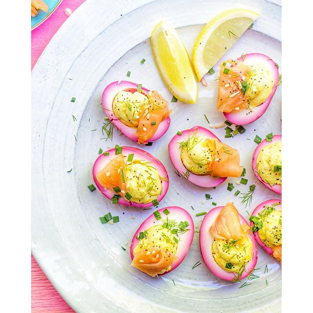 You are my everything... Pickled Beet Everything Bagel Deviled Eggs, that is!