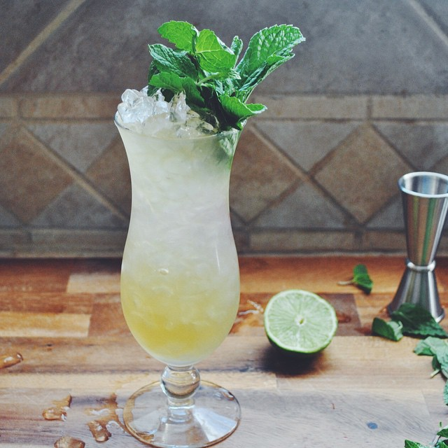 The Brooklyn Swizzle. From My Post Up On The @homebargirl Site. Rum | Brandy | Apricot | Pineapple |…