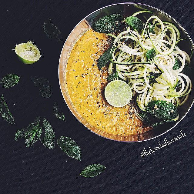 Raw Spicy Veggie Soup