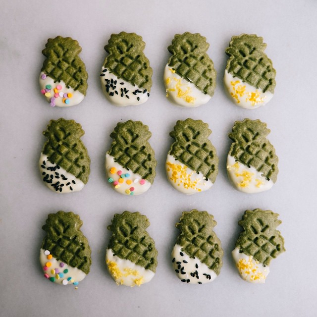 Matcha Shortbread With White Chocolate