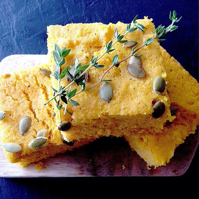 Pumpkin & Polenta Cornbread With Pepitas