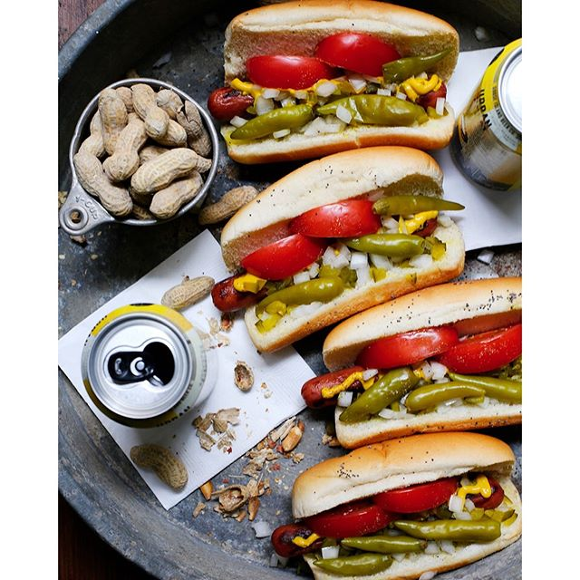 Classic Chicago Style Hot Dogs