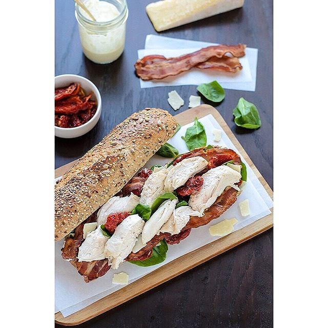 Lightened Up Caesar Club Sandwich