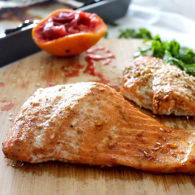 Blood Orange Sesame Salmon in the works! Tastes amazing and packed with antioxidants!