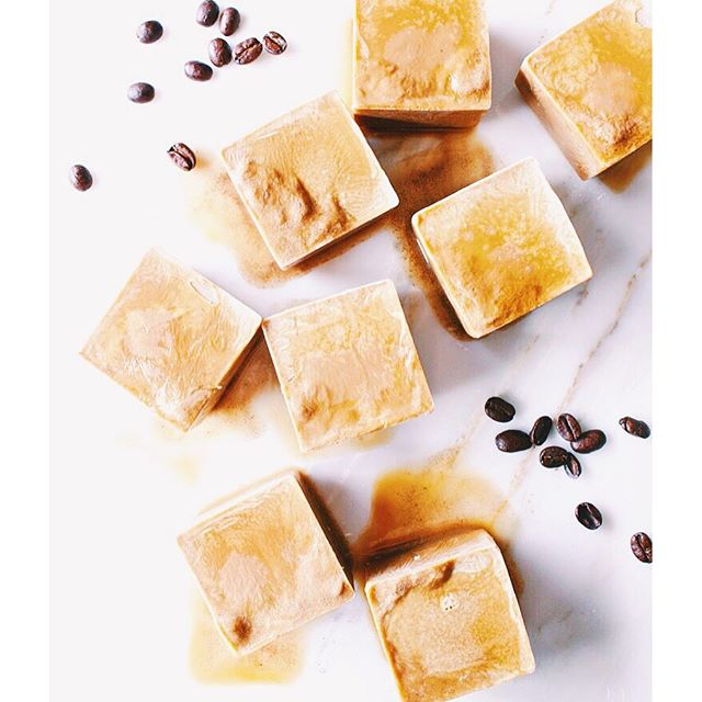 Coconut Cream And Coffee Ice Cubes