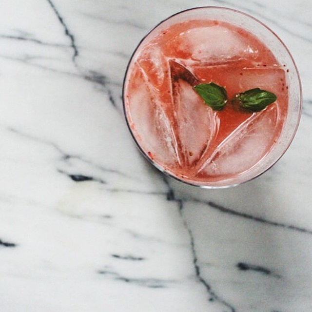Roasted Strawberry Gin & Tonics