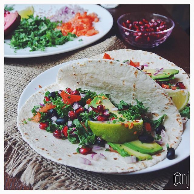 Black Bean, Kale, & Avocado Tacos