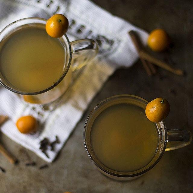 Spiced Kumquat Hot Toddy
