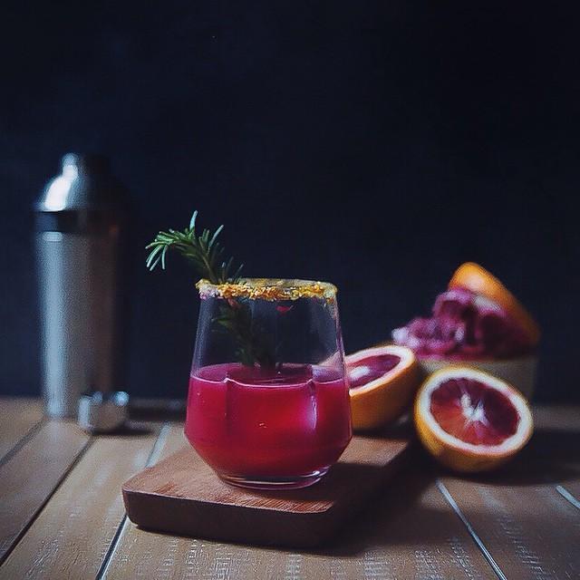 Blood Orange, Rosemary, Tequila & Soda