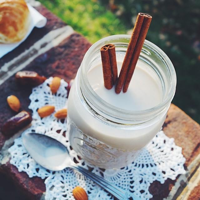 Creamy Almond Flavored Milk