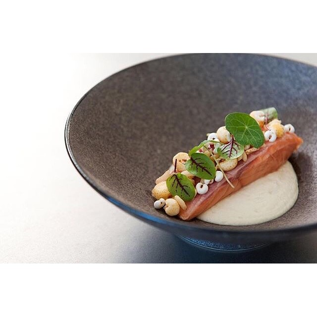 Tasmanian salmon, puffed grains and cauliflower!