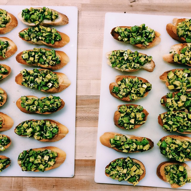 Avocado Chimichurri Bruschetta