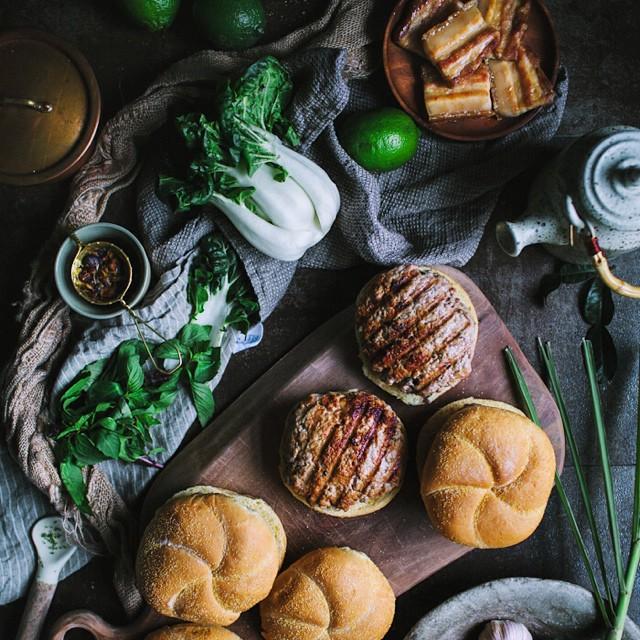 Thai-style Pork Belly Burgers