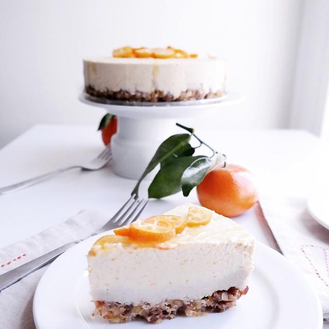 No Bake Orange And Vanilla Cream Cake (raw)