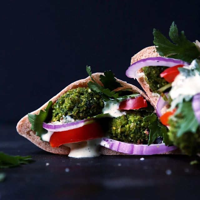 The falafel recipe is from Ksenia's @immigrantstable new ebook, Middle Eastern Small Plates. The…