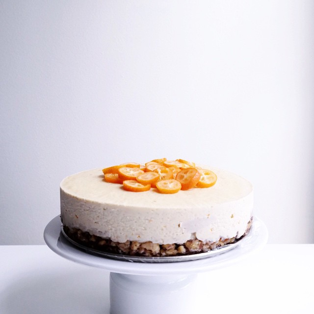 Orange & Vanilla Cream Cake (raw)