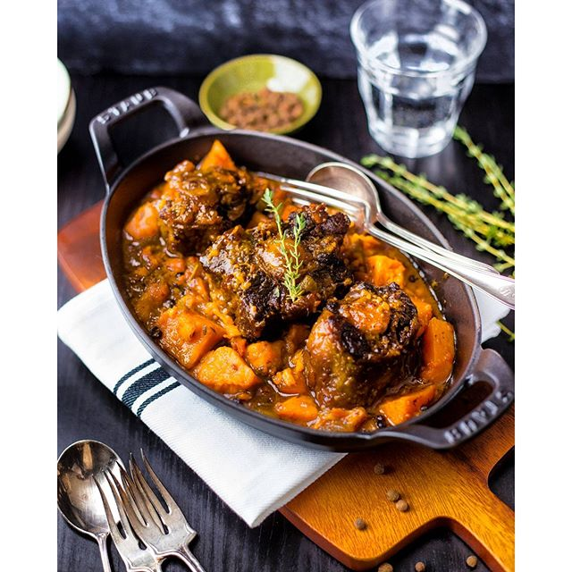 Jamaican Braised Oxtail Sweet Potato Stew
