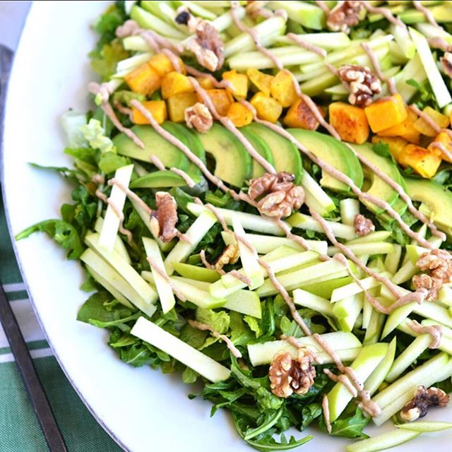 This salad is all I ever wanted in a salad and more! Julienned apples, avocado, roasted butternut…
