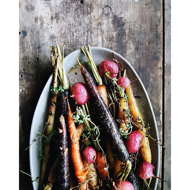 Roasted Carrots And Radish With Anchovy, Gochujang And ...