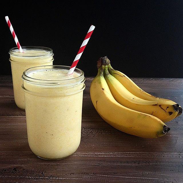Banana, Pineapple, And Orange Smoothie