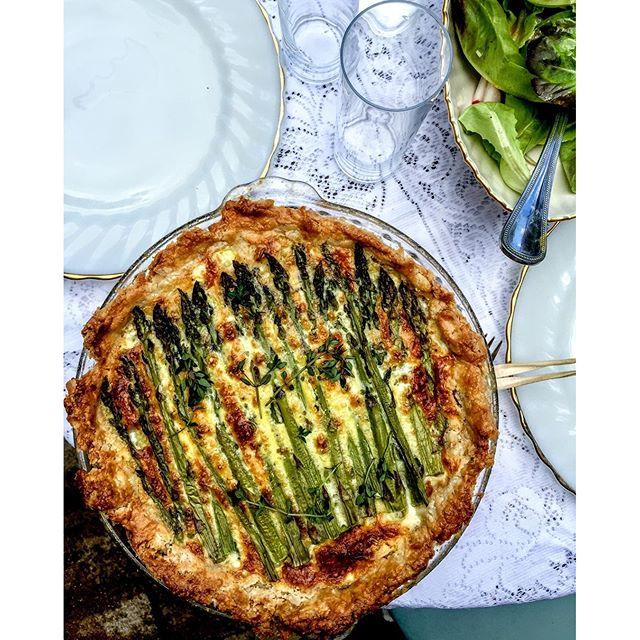 Asparagus, Leek And Gruyere Quiche