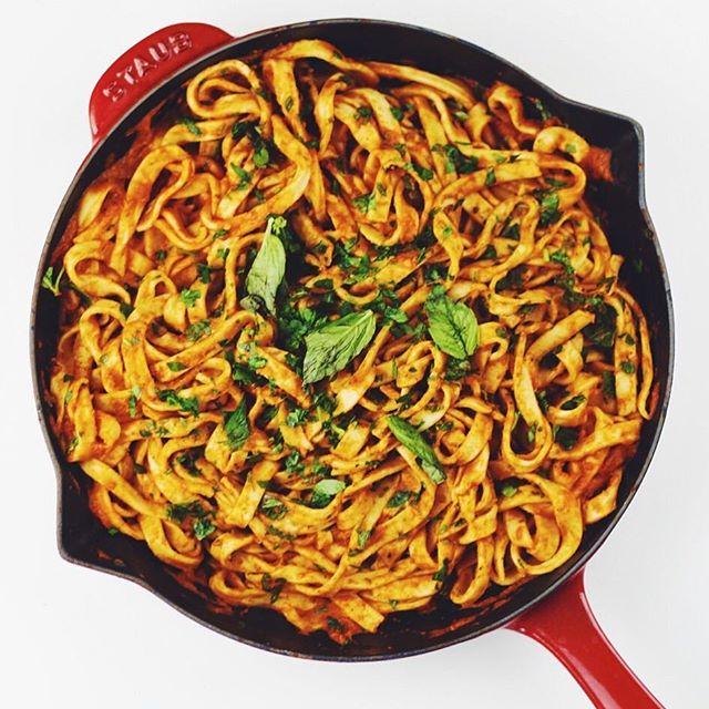 Homemade Fettuccine & Fire Roasted Tomato Sauce