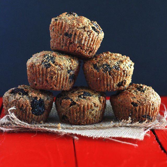 Cherry Chia And Flax Muffins