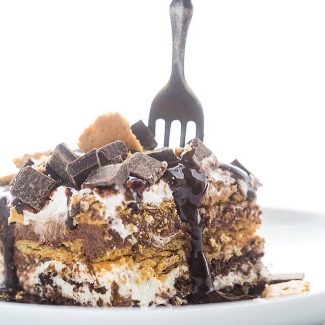 Bring Overnight S'mores Lasagna to your next potluck and everyone is sure to leave a happy camper.