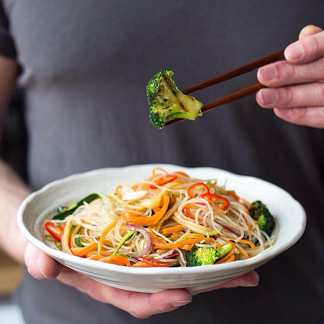 Vegetable Glass Noodle Stir Fry