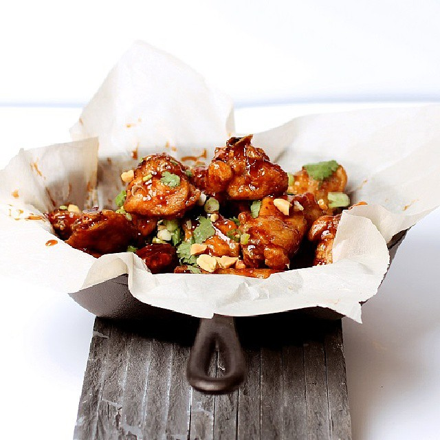 Kung Pao Baked Wings With Cilantro And Peanuts