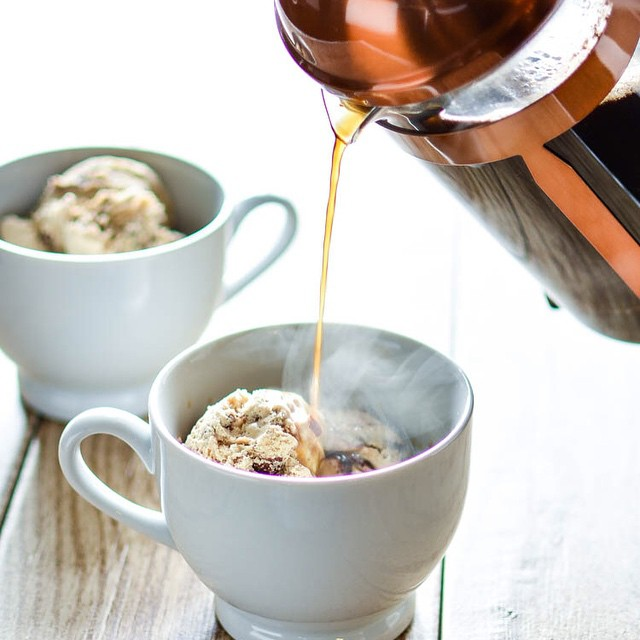 New! As promised, a recipe for s'mores-style affogato with marshmallow whipped cream