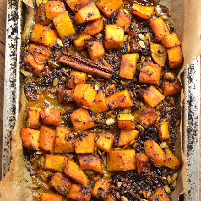 Squash With Cardamom & Nigella Seeds