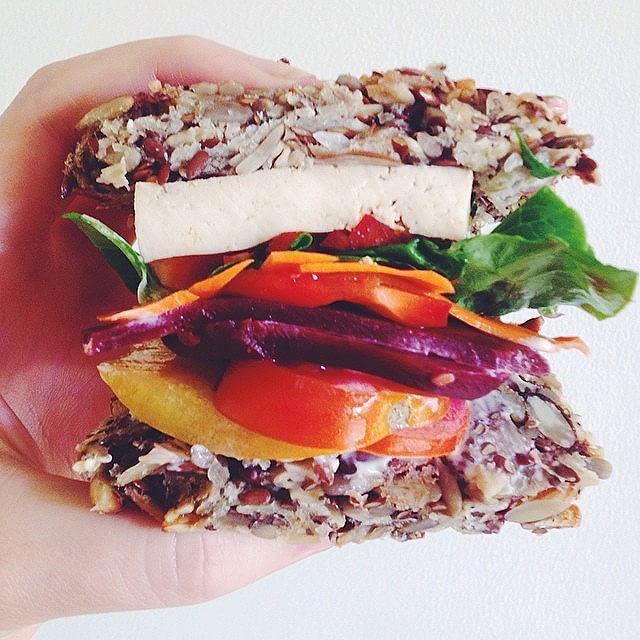 Beetroot Tamari Tofu Salad Sandwich