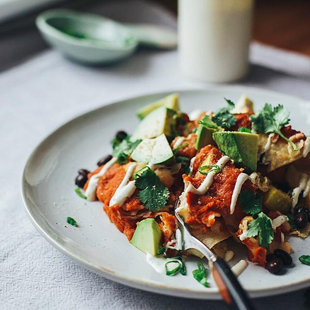 Enchiladas With Lime Cream (vegan)