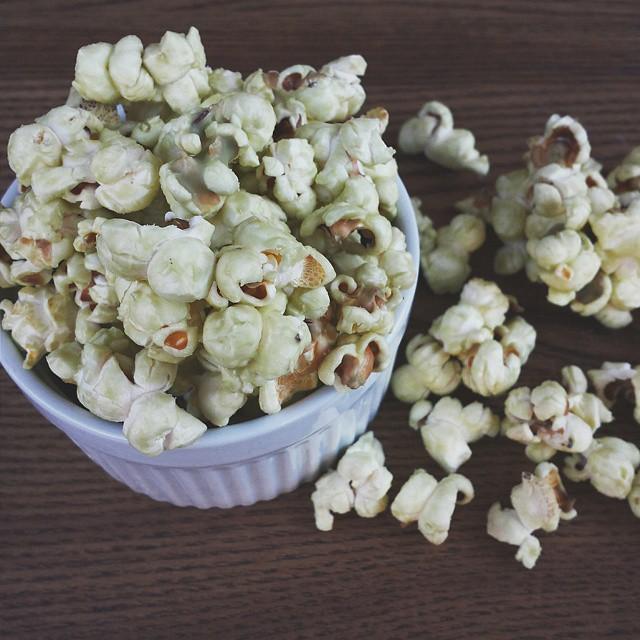 Matcha & White Chocolate Popcorn