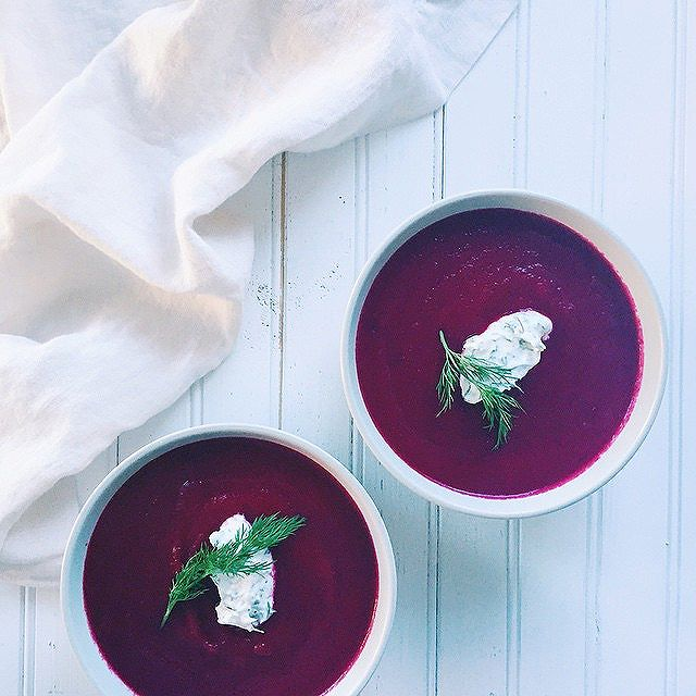 Beet Soup With Caraway And Dill Yogurt