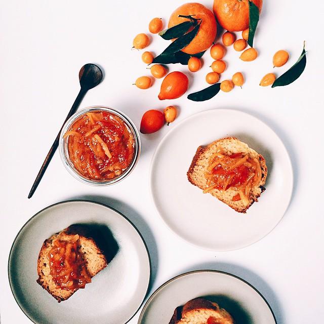 Olive Oil Cake with Multi-Citrus Marmalade + Cream