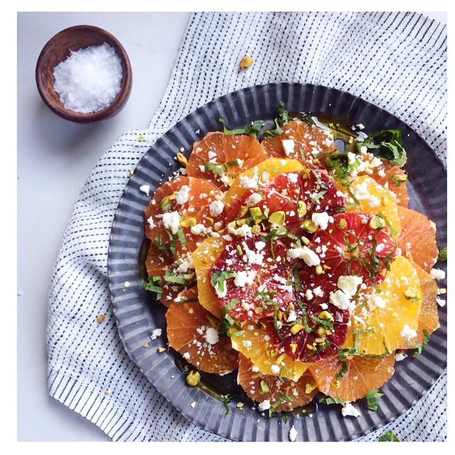 Morrocan Citrus Salad With Feta, Mint And Pistachios