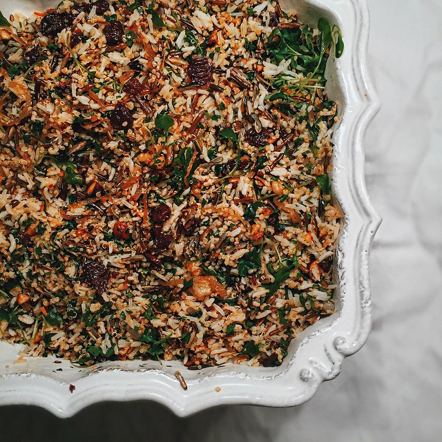 Sour Cherry Rice Salad With Nuts