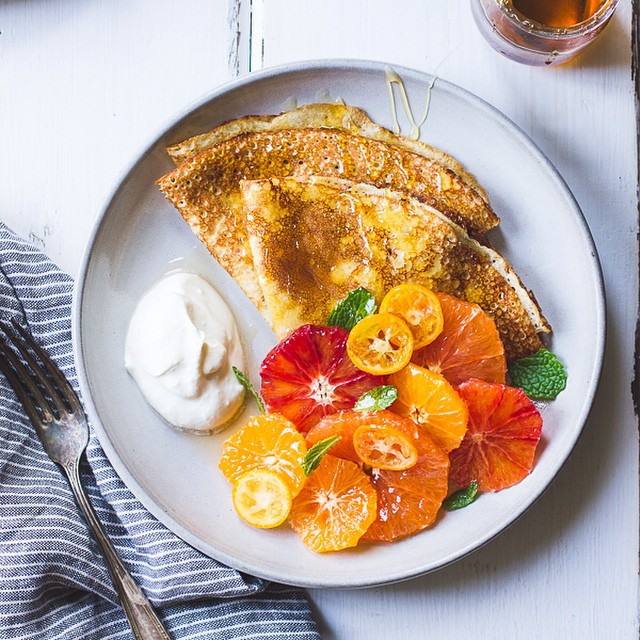 Ricotta Crepes With Honeyed Citrus