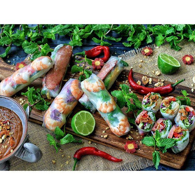 Shrimp Summer Rolls With Peanut Butter Hoisin Dipping ...
