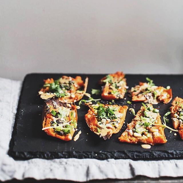 Thai Sweet Potato Skins