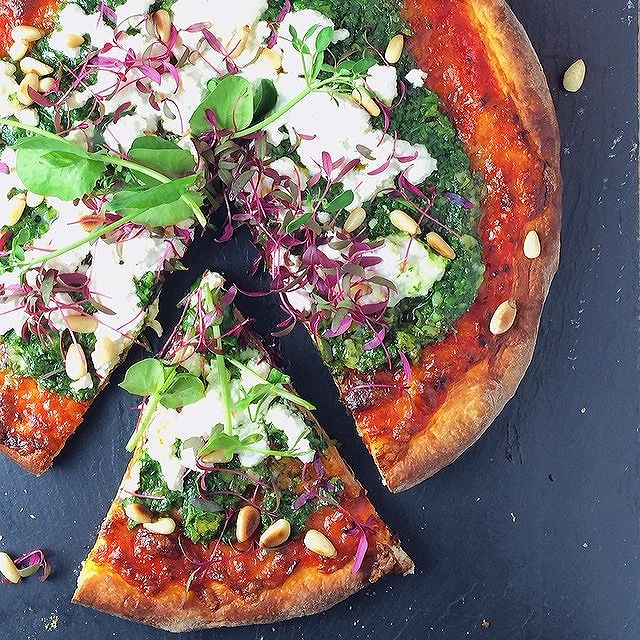 Microgreen Pizza
