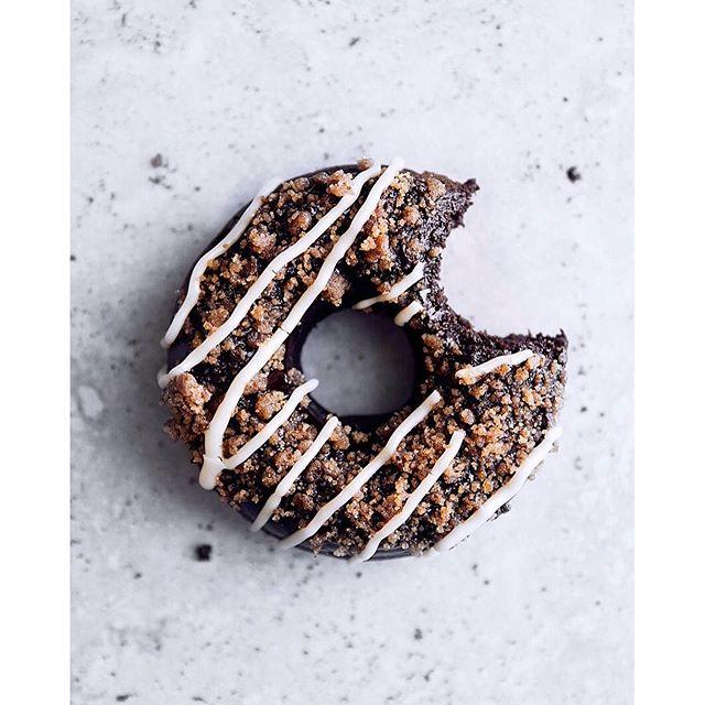 Mocha Toffee Crunch Chocolate Donuts