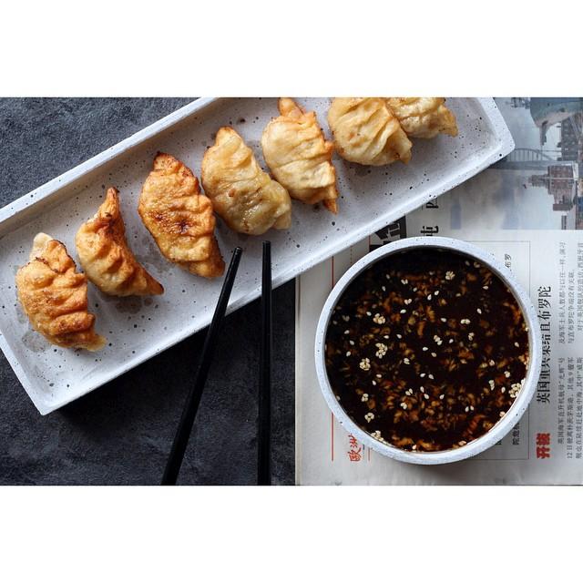 Pork And Kimchi Dumplings (gyoza)